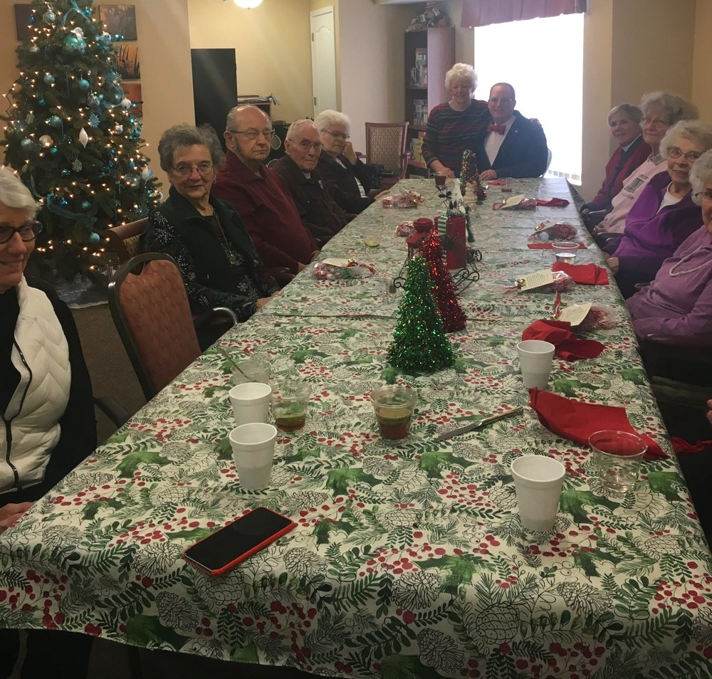 St. James Pastoral Care Team hosts three luncheons a year for St. James residents in the local senior living facilities.