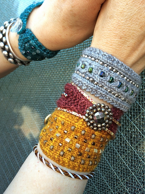Beaded Buttoned Bracelets