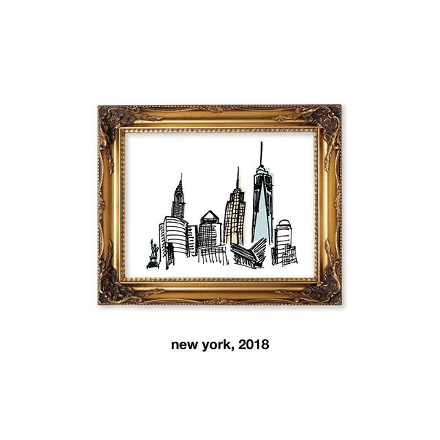 "115. ""new new"" – new year, new york (crudely drawn city 04) #nyc #dailydesignchallenge"