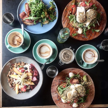 Photo credit to our talented friend Bara who captured our lunch at local cafe Bayleaf.
