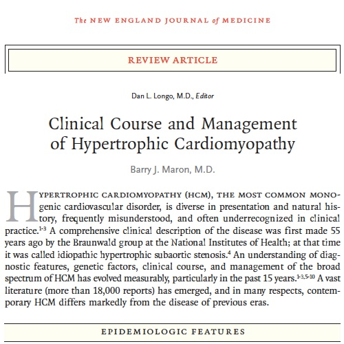 Click image to download Dr. Maron's August 2018 NEJM article.