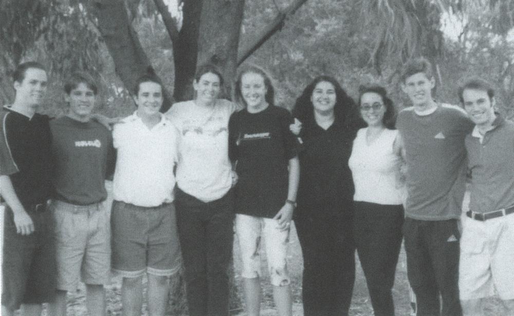 Left to Right: Rob Chellingworth, Lucas Hurley, Bruce Sinclair, Bernadette Byron nee McKinley, Katherine Endicott, Mary Flynn nee Issa, Robyne Ferri, Joseph Frick, Nick Dabbs