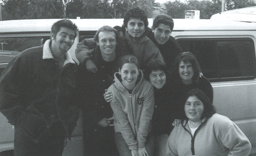 Back Row: Steve McKinley, Blair McWhinney, Carlo Denitto, Angelo (Harry) Benedetto Middle Row: Lidia Galea nee Seselja, Monica Smokrovic nee Romagnolli, Eilish O'Reilly (RIP) Front Row: Lucia McFarlane