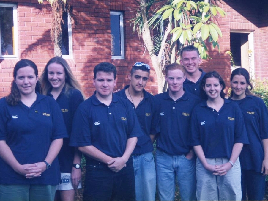 Back Row: Michaela Hughes, Kathryn Endicott, Martin Pannell (Team Manager), Nathan Galea, Justin Carrick, Steve Proud, Bernadette Meffert nee Rayner, Lidia Galea nee Seselja