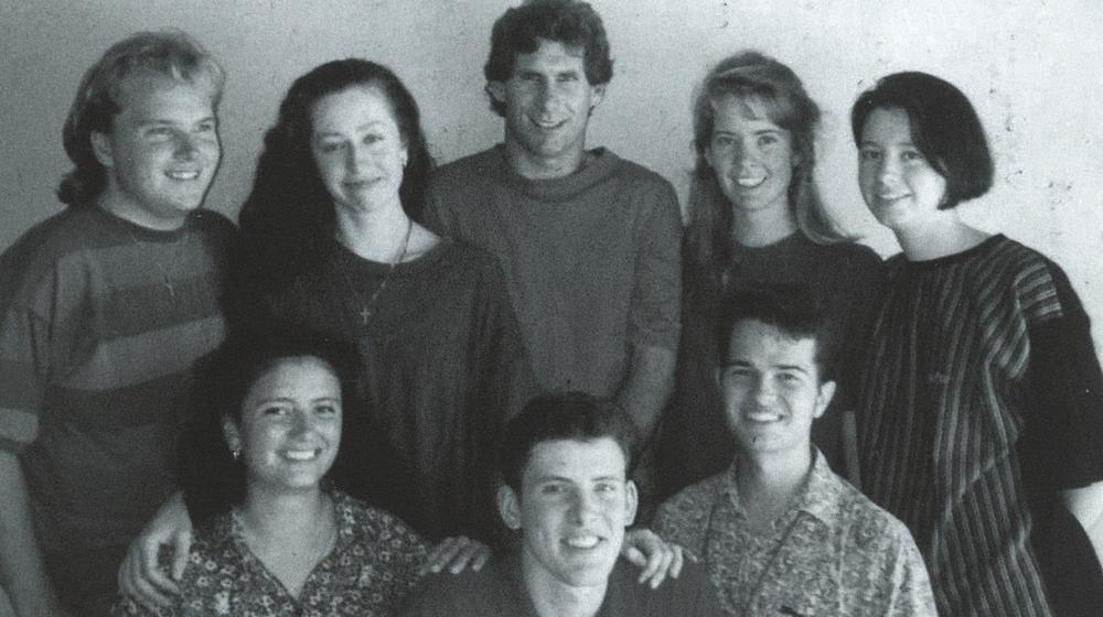 Back Row: Marty Firth, Nana Howard, Chris Brennan (Team Leader), Henrietta Brennan nee Harris, Rebecca Von Perger nee Gardner Front Row: Erica Carulli, John Harris, Paul Whitely
