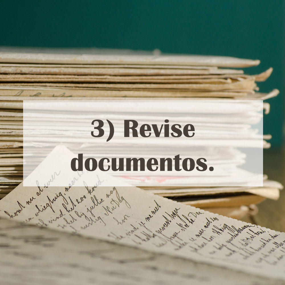 Revise documentos.