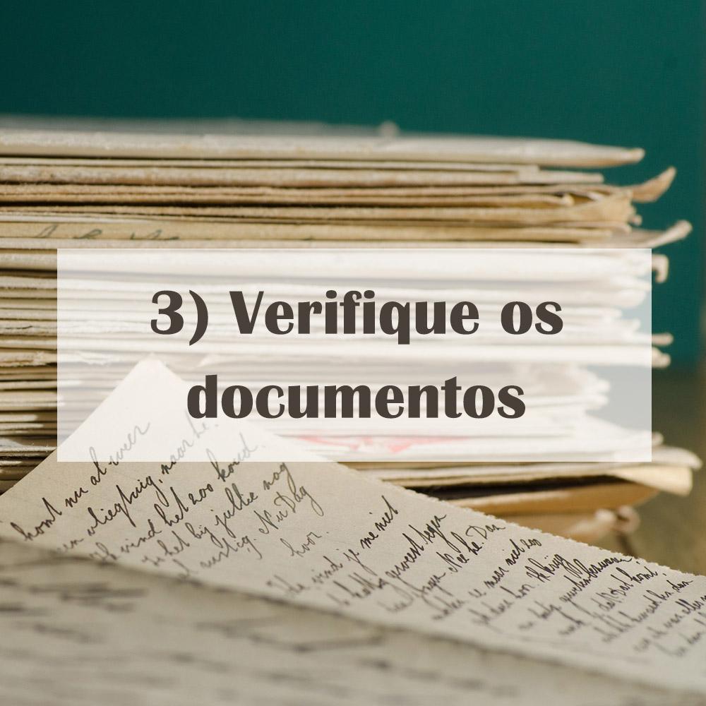 Verifique os documentos