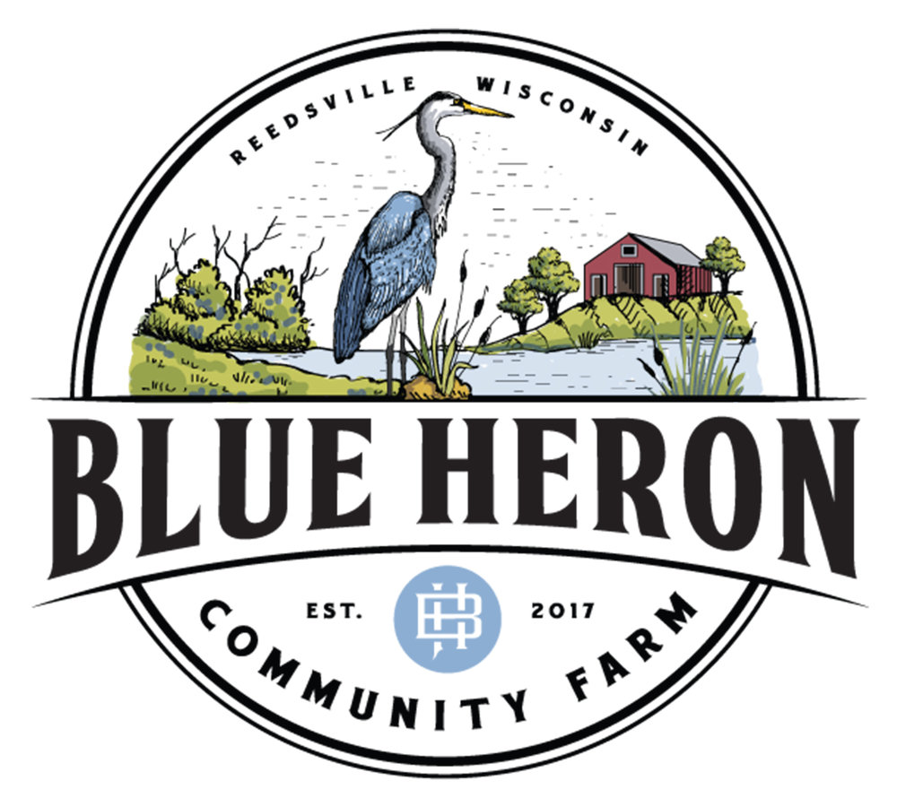 Blue Heron Community Farm Logo