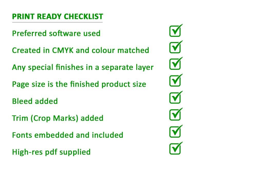 Print Ready Checklist