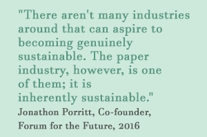 The paper industry is inherently sustainable. Forum for the Future, 2016.JPG