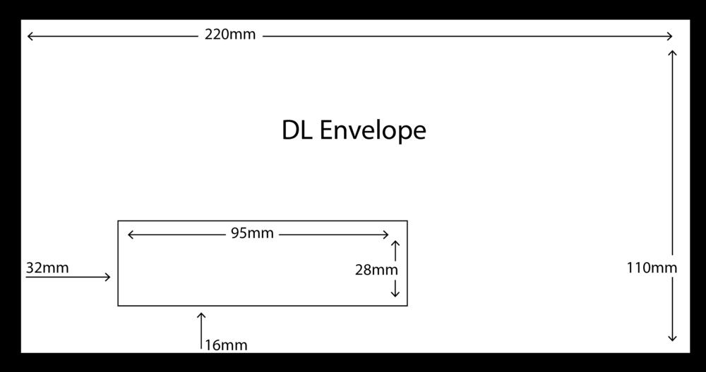 DL Envelope with standard window size