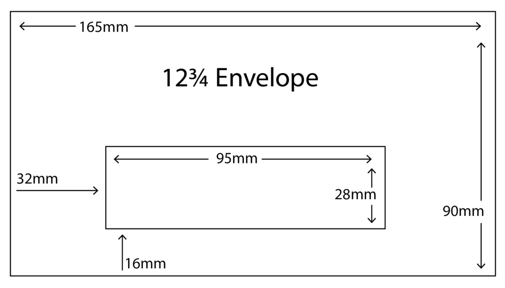 12 3/4 Envelope with standard window size
