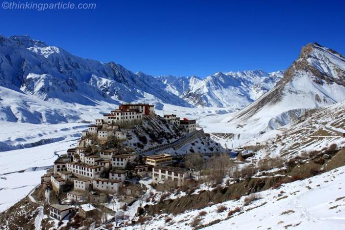 Credit: http://www.thinkingparticle.com/image/key-gompa-backdrop-snow-filled-spiti-valley