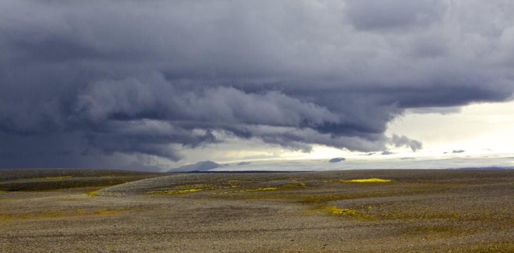 Langjökull Glacier Sprengisandur Storm Iceland 6.jpg
