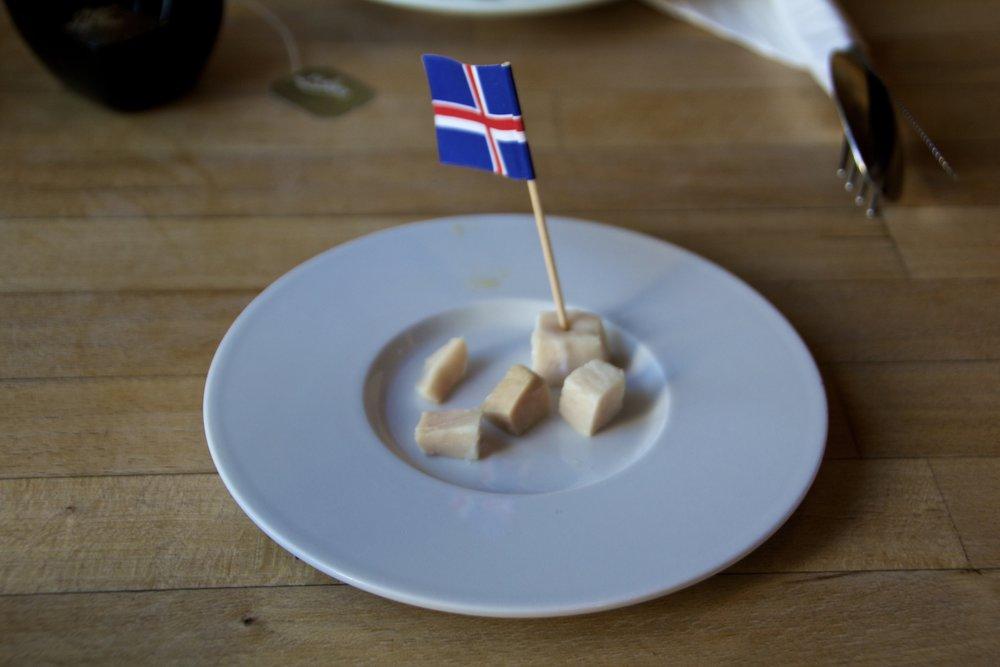 Kæstur Hákarl Fermented Shark Meat Icelandic Food 1.jpg