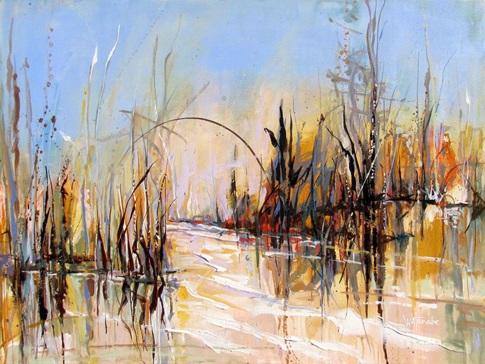 winter_pond_carole_watanbe_sebastopol_california_sonoma_county_art_trails