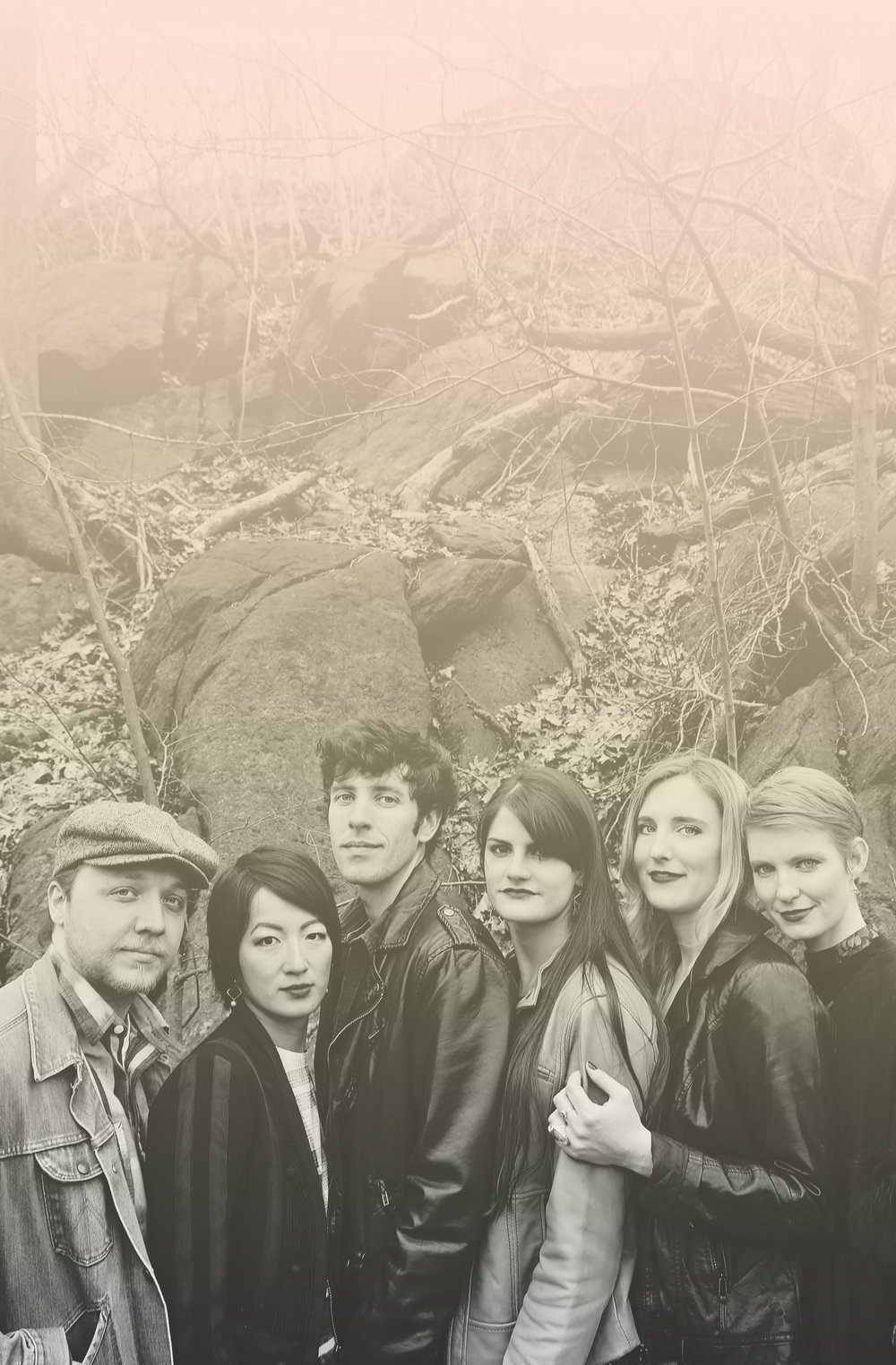 Left to right:  Cody Rahn, Yuka Tadano, Ryan Gross, Sarah Elizabeth Haines, Jess T. Clinton, Mackenzie Shivers    Photo by  Britannie Bond.