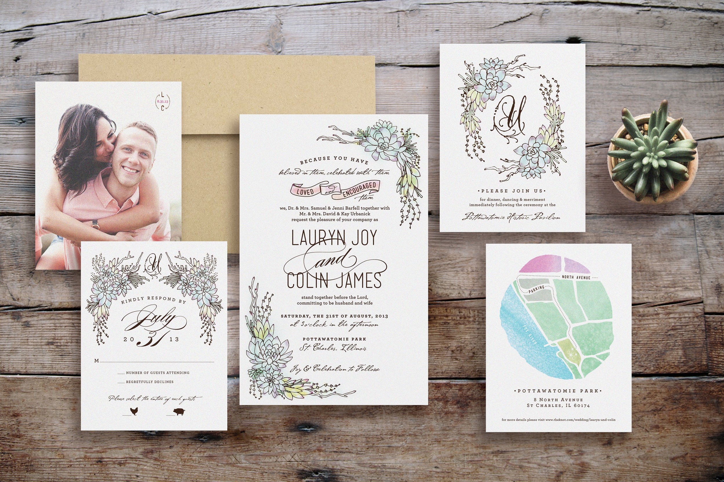 C & L Wedding Invite — KAYE LEE PATTON