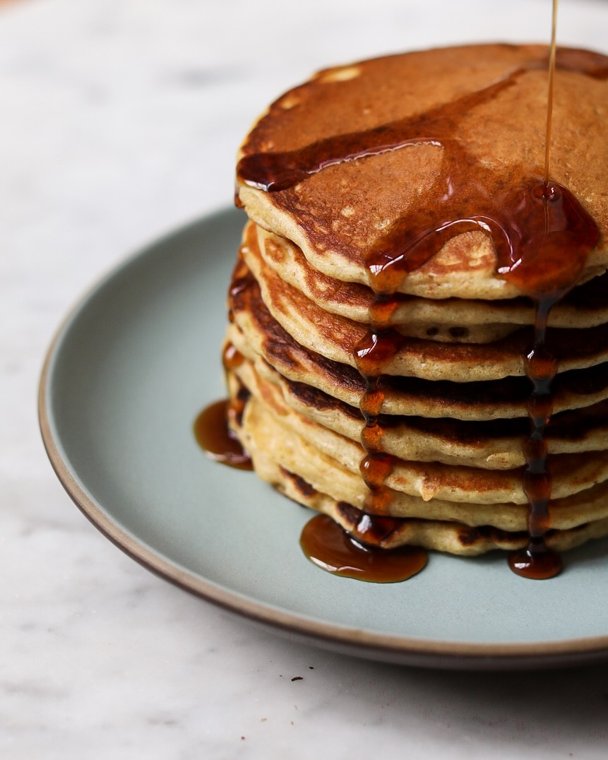 What should I add to the pancake so that they do not darken