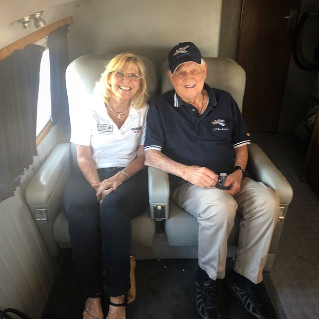 "A special thank you to Col. ""Bud"" Anderson and everyone who made donations towards the Fly a Vet event today in Santa Rosa. @pacificcoastairmuseum  We will be giving flights for WWII and Korean War pilots in honor of Armed Forces Day, please come out and show your support for these living legends. #dc3 #sts #armedforcesday #pcam #veteran #history #legend"