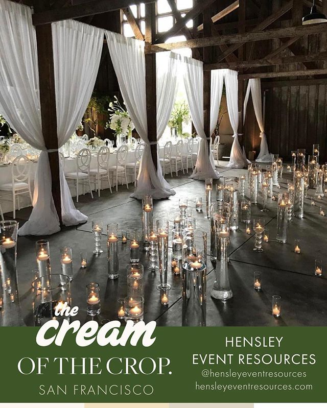 SF Crop:: They've been helping get your party started in the Bay Area for over 35 years! Bring your event visions to life with the team @hensleyeventresources and come check out their wares on Sunday. Welcome to the crop!