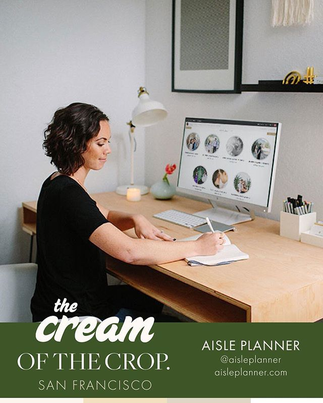 SF Crop:: @aisleplanner will change how you plan and party at weddings with their tools created by industry pros for industry pros. We loved having them at CREAM LA and can't wait to welcome them back to CREAM SF. See you on Sunday, Aisle Planners! #weareaisleplanners