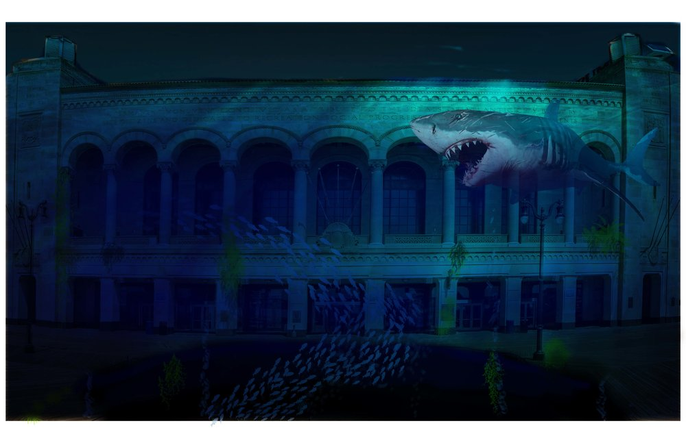 Outdoor 3D Projection Mapping