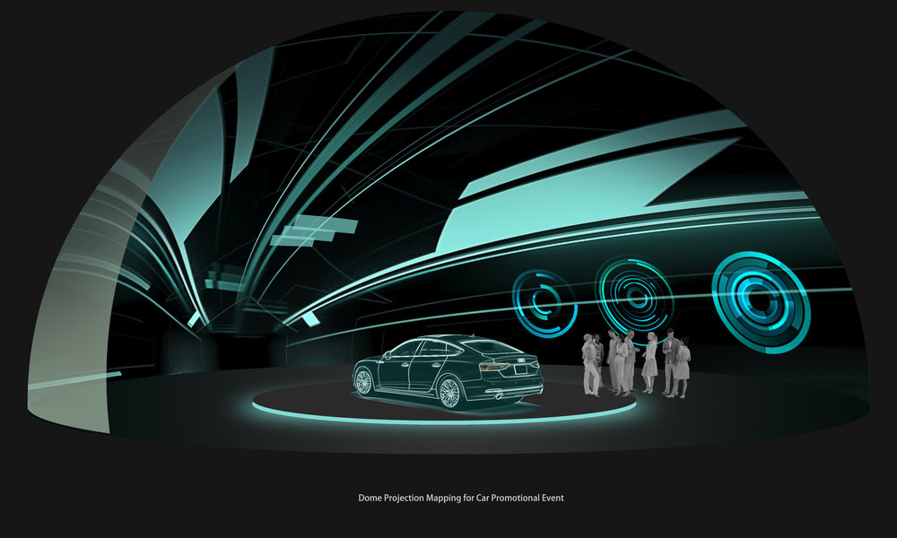 Dome Projection for Car Promotional Event