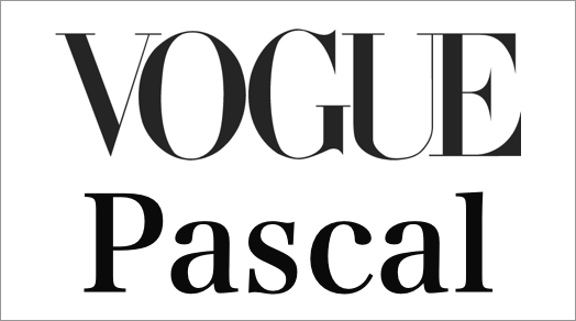 Vogue font vs. Pascal font