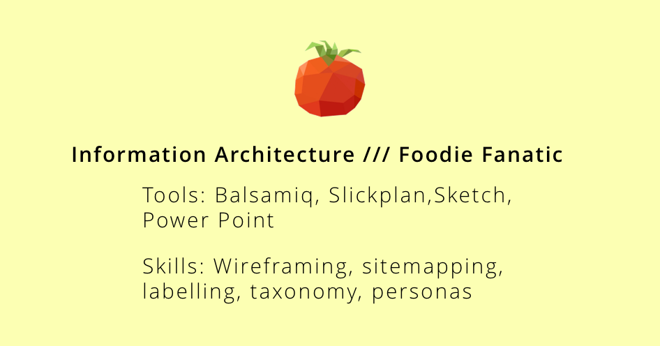 Information Architecture // Jan 2018 - Mar 2018