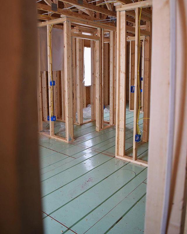 We're installing @warmboard premier radiant floor heating in this custom home build.