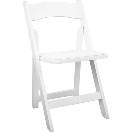 WHITE PADDED GARDEN CHAIR — Box K Events