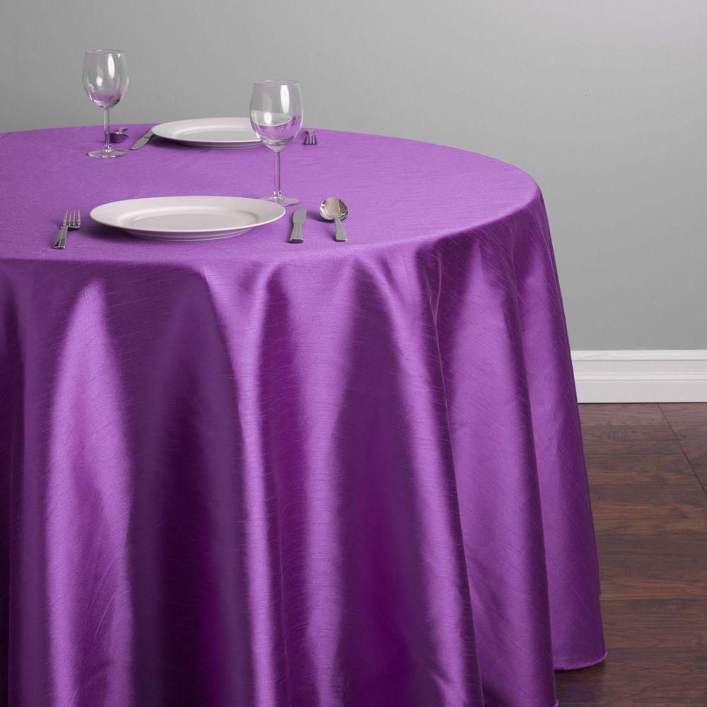 Purple Round Shantung Silk Linen