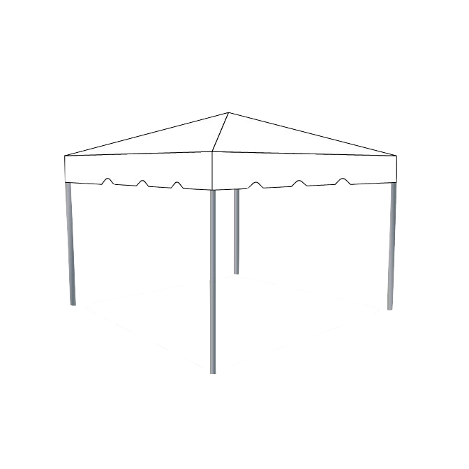10\' x 10\' Frame Tent - White — Box K Events