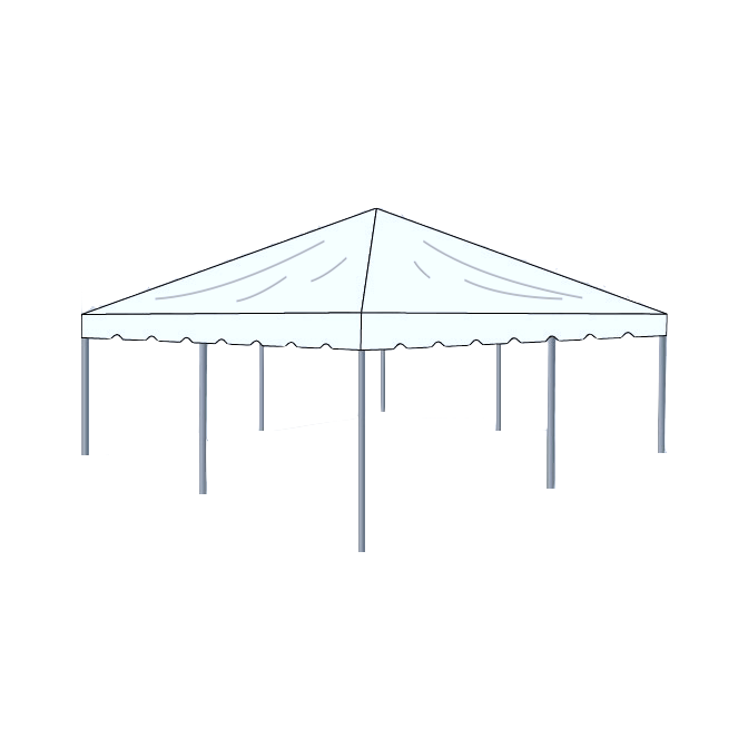 20\' x 20\' Frame Tent - Clear — Box K Events