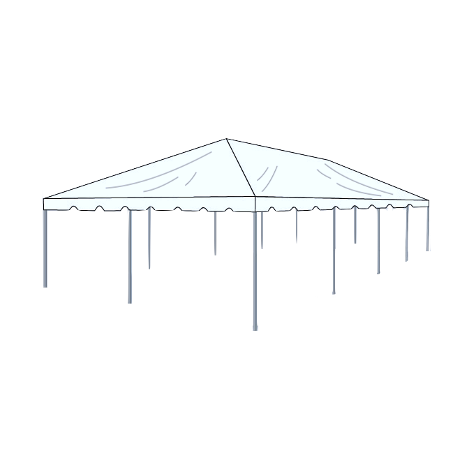 20\' x 50\' Frame Tent - Clear — Box K Events