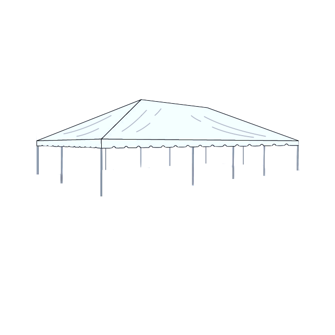 30\' x 50\' Frame Tent - Clear — Box K Events