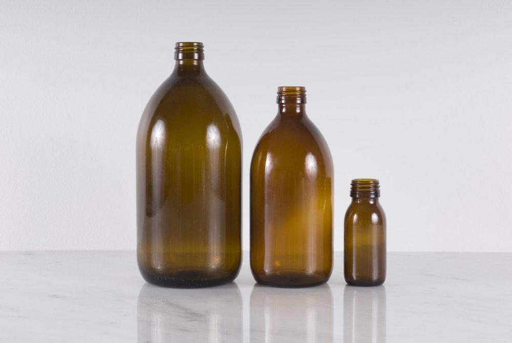 Amber Bottles - View DETAILS