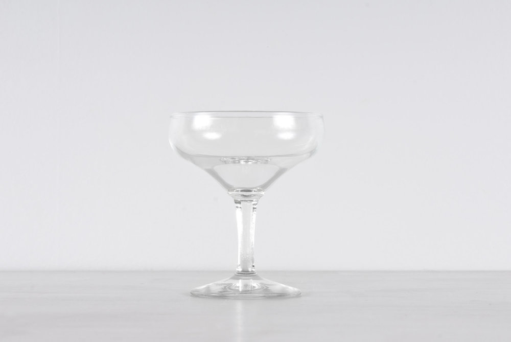 Flat Bowl Vintage Glasses - View Details