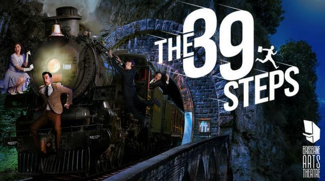 Picture: Brisbane Arts Theatre Poster,  The 39 Steps  (Graphic Design: Sean Dowling. Production Photography: Kris Anderson).