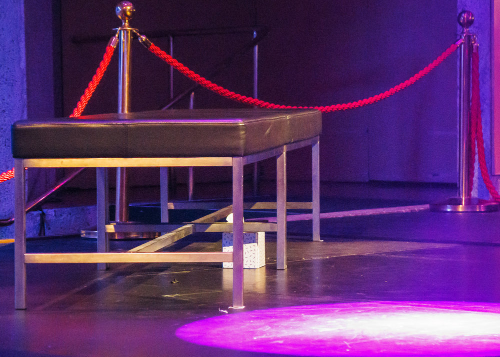 Pictured: The stage is set (complete with tissues!).  Picture credit: Creative Futures Photography.