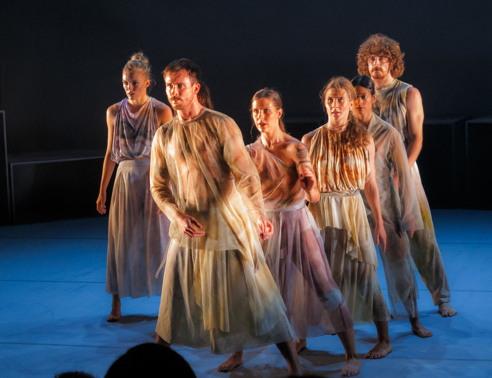 Pictured: The   Dancenorth     ensemble(Samantha Hines, Mason Kelly, Jenni Large, Ashley McLellan, Georgia Rudd, Felix Sampson, and Jack Zeising).  Picture credit: Creative Futures Photography.