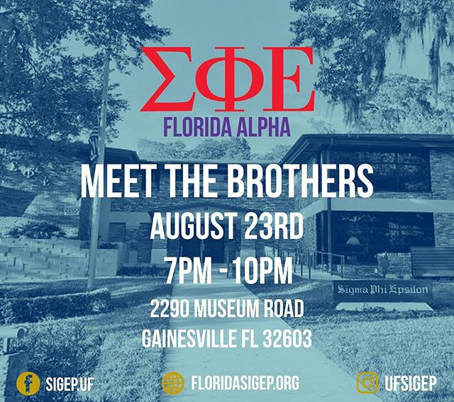 Come meet the brothers of Sigma Phi Epsilon this Thursday before Formal Recruitment and enjoy some free food. Hope to see you there!