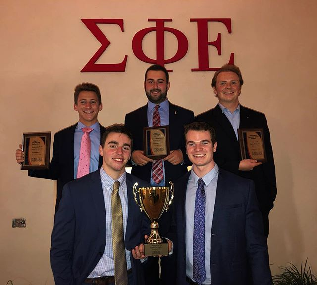 Tonight at Florida Greek Awards we took home the awards for Highest Chapter GPA in the IFC Fall 17, Highest Chapter GPA in the IFC Spring 18, Most Outstanding Community Service Program and for the second year in a row, IFC Chapter of the Year!  We are also very proud of our brother Ryan Mills for receiving the Outstanding Council Director for IFC award.