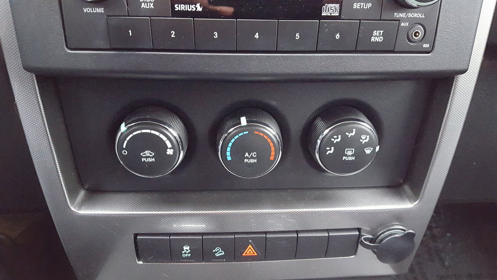 my Jeep's heat controls