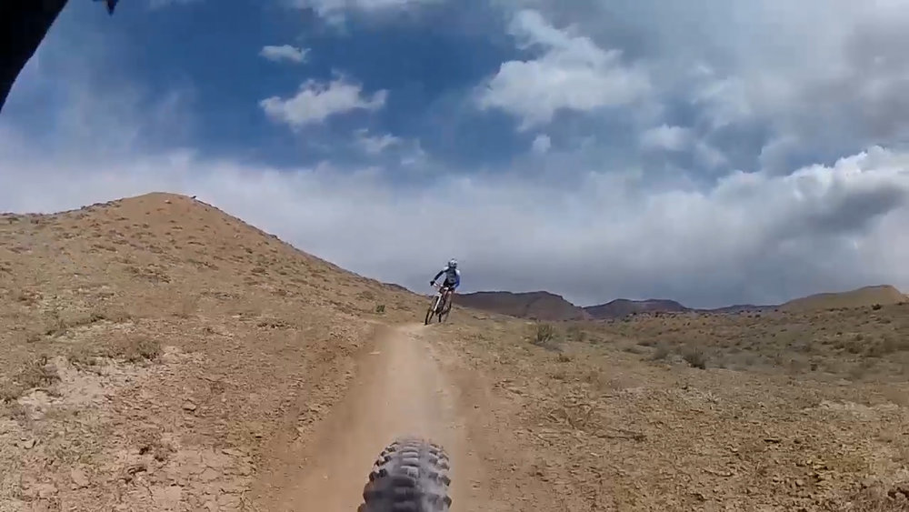 Not racing here, just playing around with John Adamson, Fruita CO.