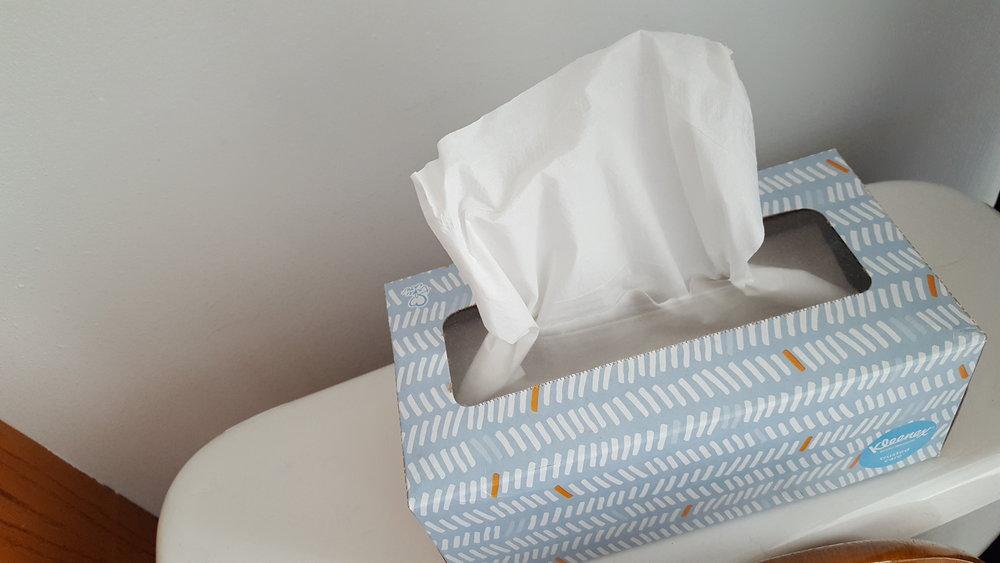 Kleenex chris congdon upstairs project