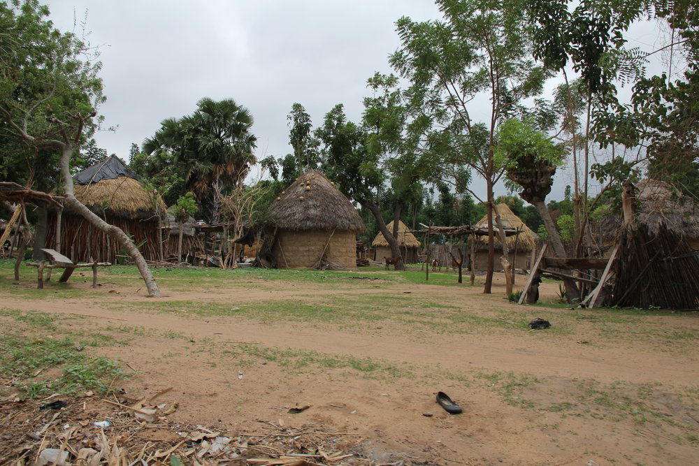 Typical rural Nigerian village.