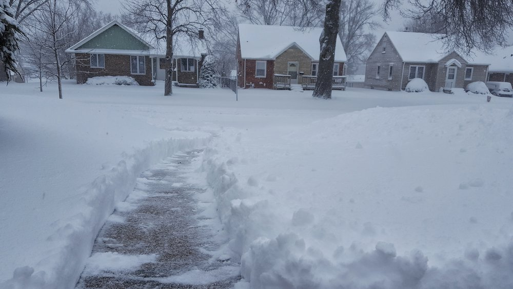 12 hours ago there was no snow in my driveway.  March in Iowa.