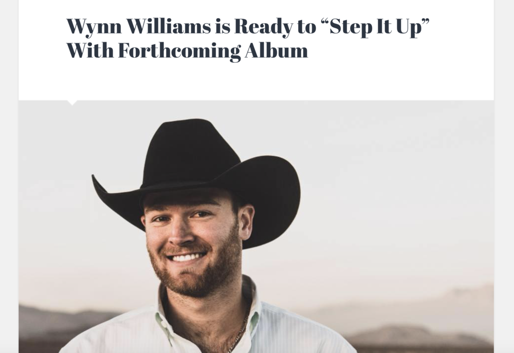 """In 2017, Wynn Williams introduced himself to the country music community with his debut EP, ""Words Fly;"" and what a strong introduction it was.  The young Texan offered songs of love, heartbreak, and lessons learned; everything you'd expect to find on a great country release.  Now, with more experience under his belt, Williams is preparing to release his follow-up to ""Words Fly."" Read below to get all the details about the new release, as well as how he has grown as an artist since his debut release...."" Click here for more."